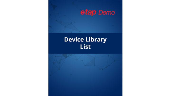ETAP Demo Device Library List