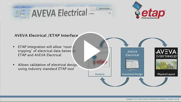 AVEVA Eléctrica - Interfaz ETAP