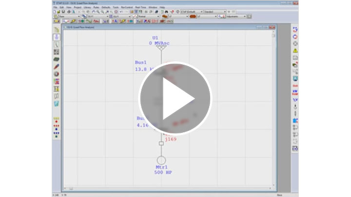 How to run a Load Flow Calculation Example 1 in ETAP
