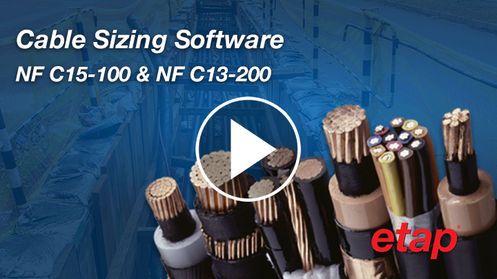 Cable Sizing per NF C15-100 & NF C13-200