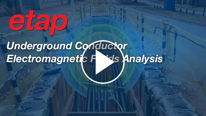 Underground Conductor Electromagnetic Fields Analysis